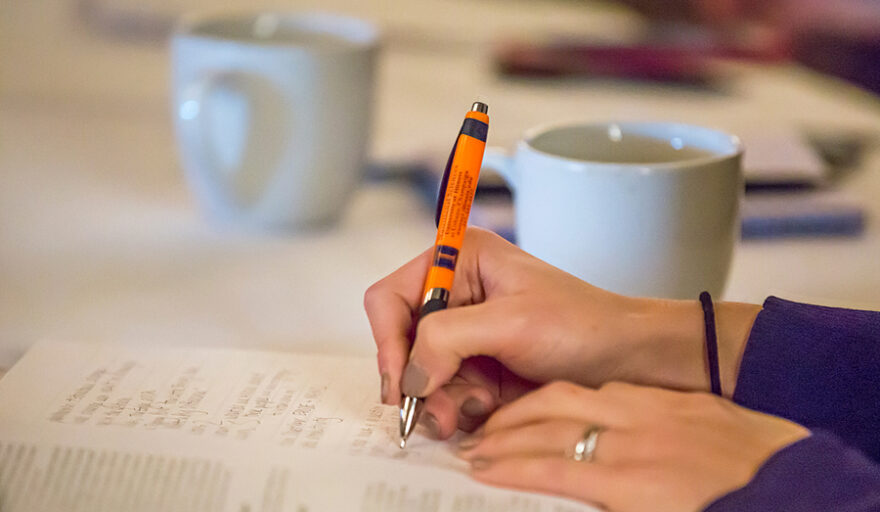 image of person writing