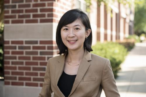 photo of wendy hsieh standing outside on Illinois campus