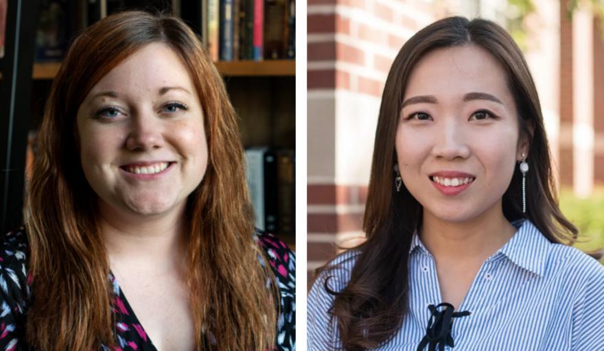 Rachel Garthe (left) and Shongha Kim (right)