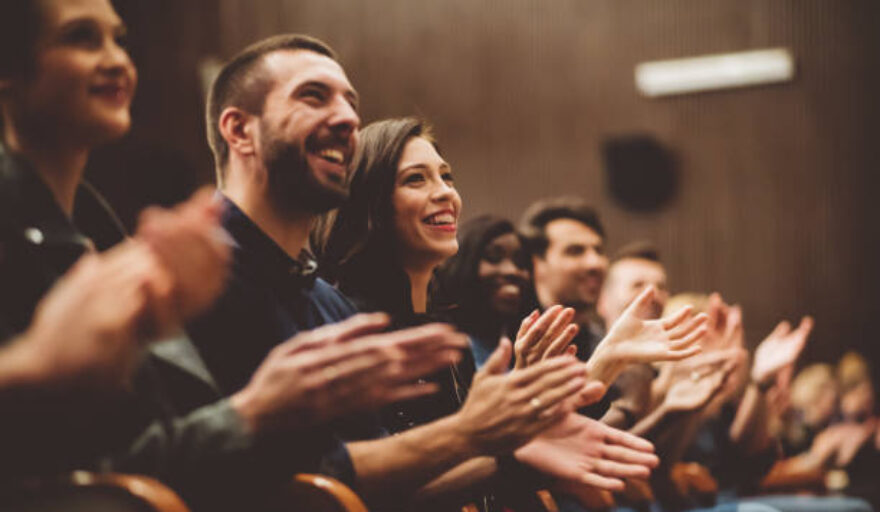 Smiling audience